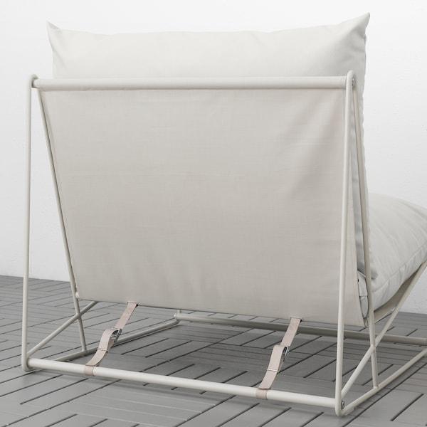 HAVSTEN كرسي مريح، داخلي/خارجي, بيج, 83x94x90 سم