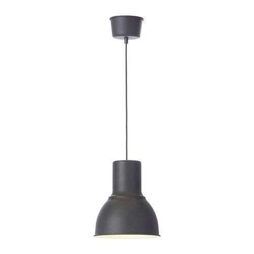 HEKTAR Pendant lamp IKEA This lamp gives a pleasant light for dining.   It spreads a good directed light across your dining or bar table.