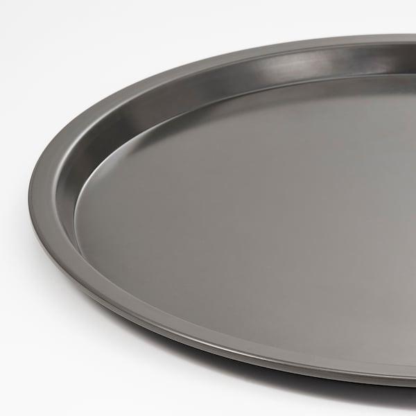 HEMMABAK Pizza tin, grey, 34 cm
