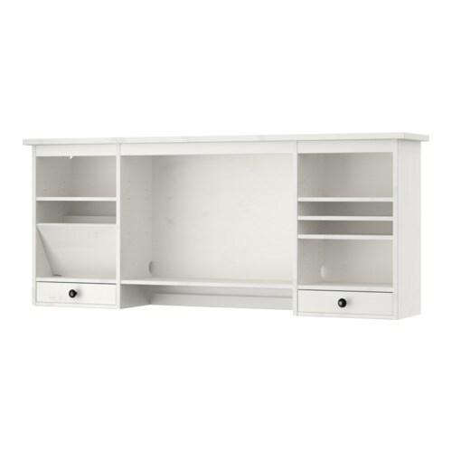 Hemnes Tv Unit White Stain : HEMNES Addon unit desk IKEA You can make room for a computer monitor