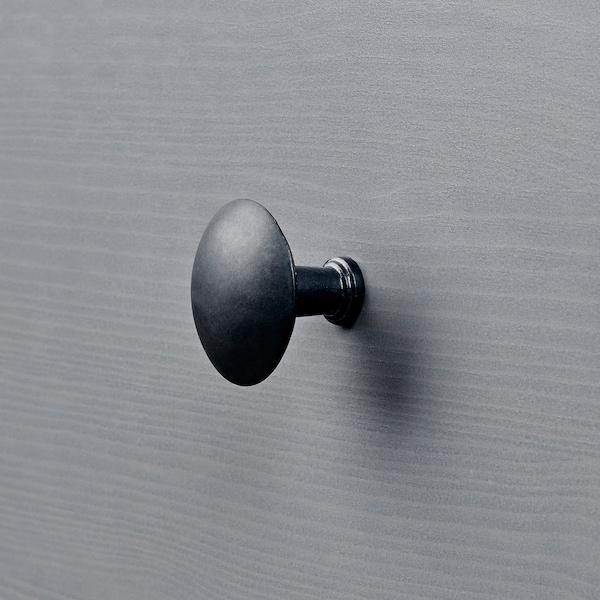 HEMNES خزانة بـدرجين, رمادي مصبوغ, 54x66 سم