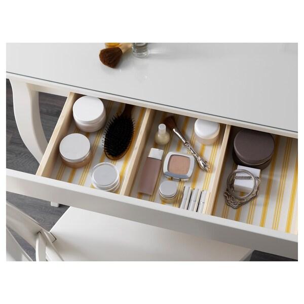 HEMNES طاولة زينة مع مرآءة., أبيض, 100x50 سم
