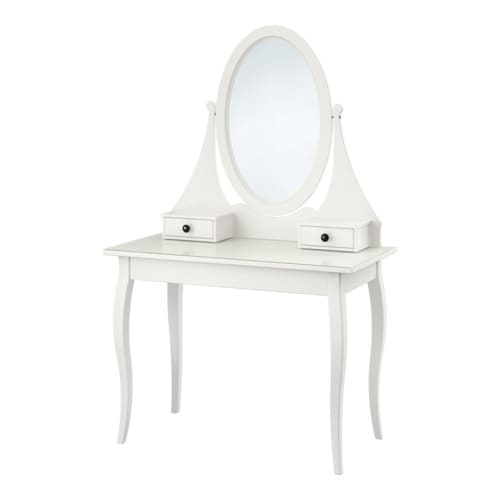 HEMNES Dressing table with mirror, white