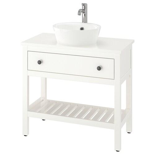 HEMNES / KATTEVIK open wash-stand with 40 wash-basin white/Voxnan tap 82 cm 82 cm 48 cm 91 cm