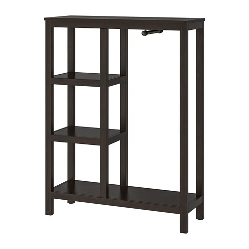 hemnes open wardrobe black brown 99x130x37 cm ikea. Black Bedroom Furniture Sets. Home Design Ideas
