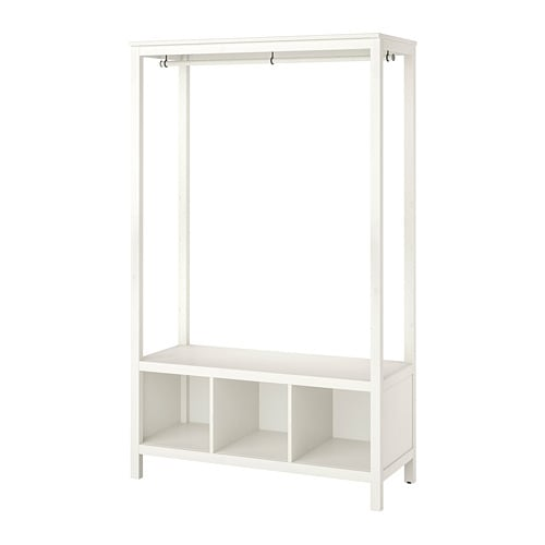 hemnes open wardrobe white stained ikea. Black Bedroom Furniture Sets. Home Design Ideas
