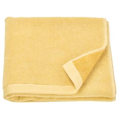 HIMLEÅN Bath towel, yellow/mélange, 70x140 cm