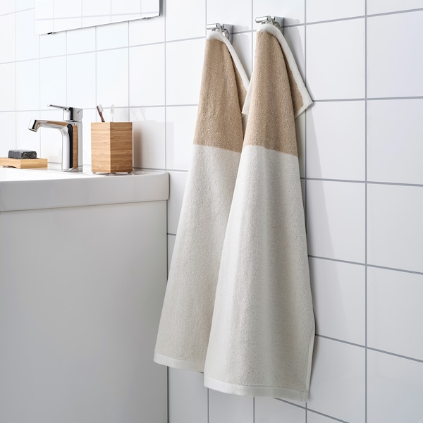 HIMLEÅN منشفة يد, بيج/خليط, 40x70 سم