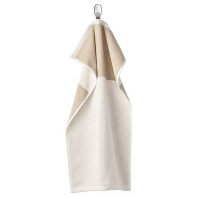HIMLEÅN Hand towel, beige/mélange, 40x70 cm