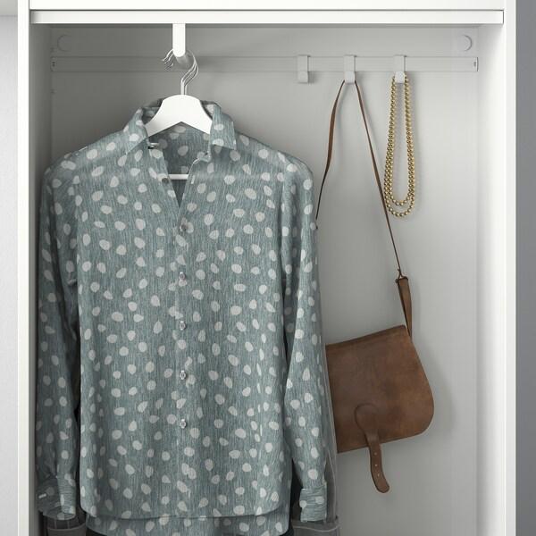 HJÄLPA ماسورة تعليق ملابس, أبيض, 80x40 سم