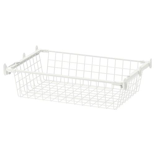 HJÄLPA wire basket with pull-out rail white 53.8 cm 60 cm 36 cm 13 cm 40 cm 7 kg
