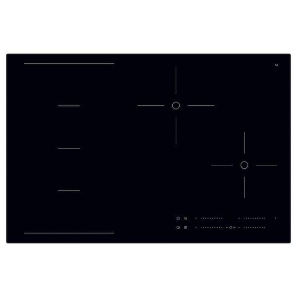 HÖGKLASSIG Induction hob with flexible zones, black, 78 cm