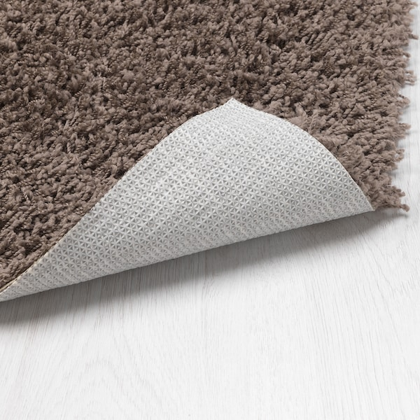 HÖJERUP rug, high pile grey-brown 180 cm 120 cm 8 mm 2.16 m² 1260 g/m² 570 g/m² 6 mm 26 mm