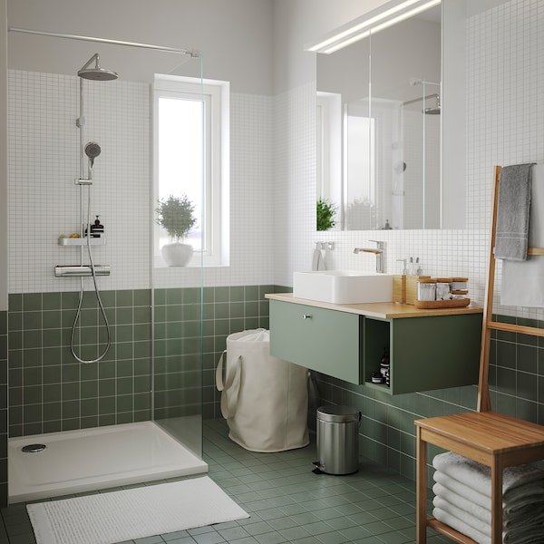 HÖRVIK Countertop wash-basin, white, 45x32 cm