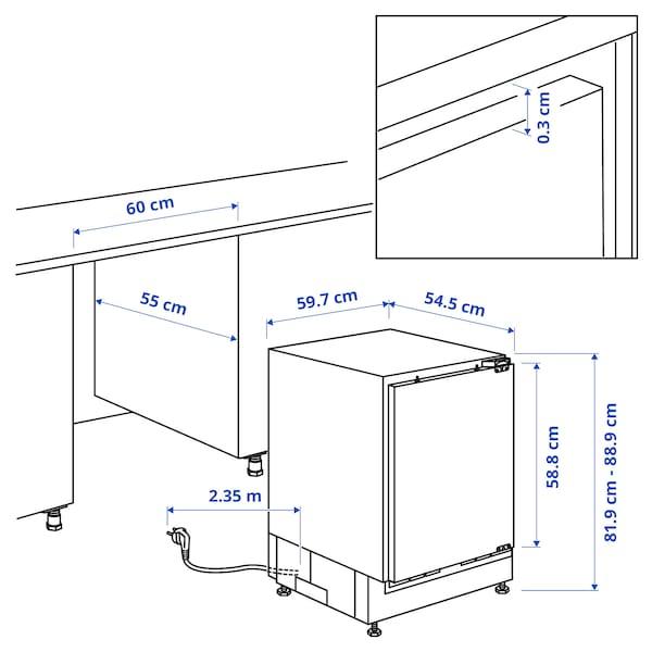 HUTTRA ثلاجة مدمجة مع حجيرة فريزر, أبيض, A++