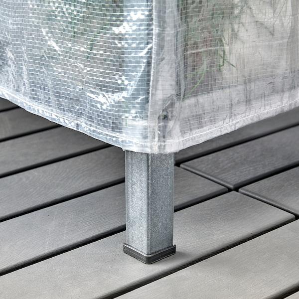 HYLLIS وحدات أرفف مع أغطية, شفاف, 180x27x74-140 سم