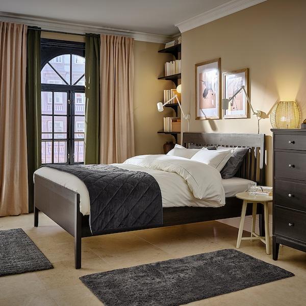 IDANÄS Bed frame, dark brown/Leirsund, 160x200 cm
