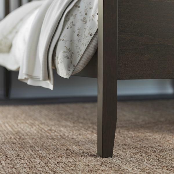 IDANÄS Bed frame, dark brown/Lönset, 140x200 cm