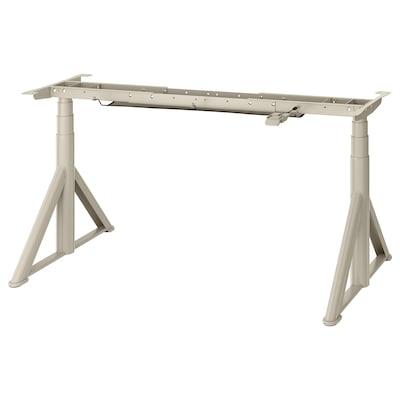 IDÅSEN Underframe sit/stand f table tp, el, beige, 146x70 cm