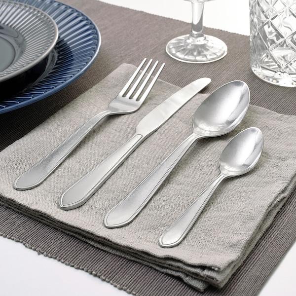 IDENTITET طقم أدوات تناول الطعام 16 قطعة., ستينلس ستيل
