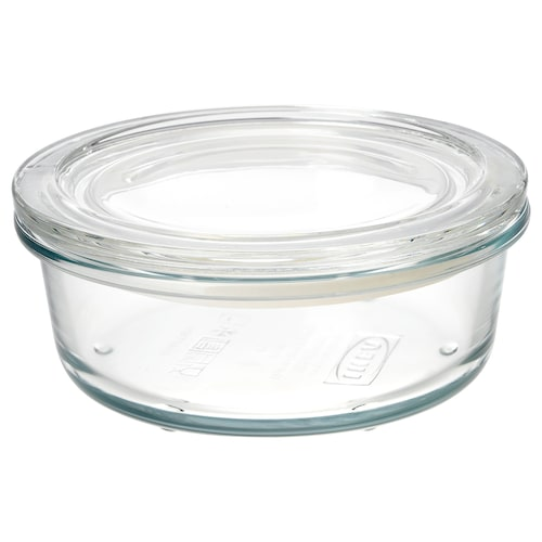 IKEA 365+ food container with lid glass 6 cm 14 cm 400 ml