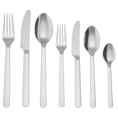 IKEA 365+ طقم أدوات تناول الطعام 56 قطعة., ستينلس ستيل