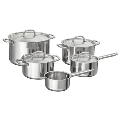 IKEA 365+ 9-piece cookware set, stainless steel