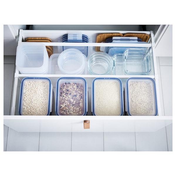 IKEA 365+ حافظة طعام, مربّع/بلاستيك, 750 مل