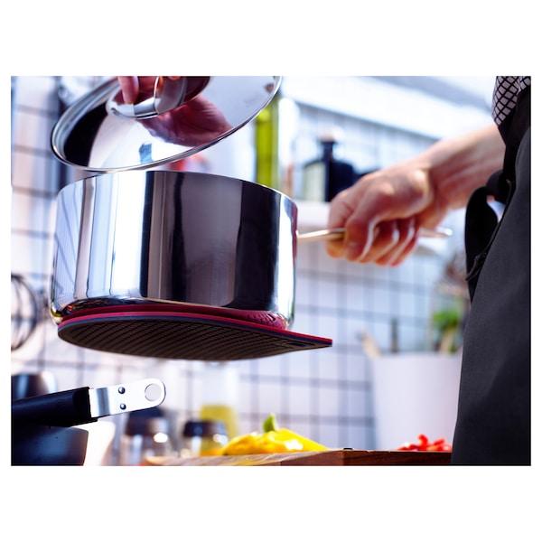 IKEA 365+ GUNSTIG Pot stand, magnetic, red/dark grey
