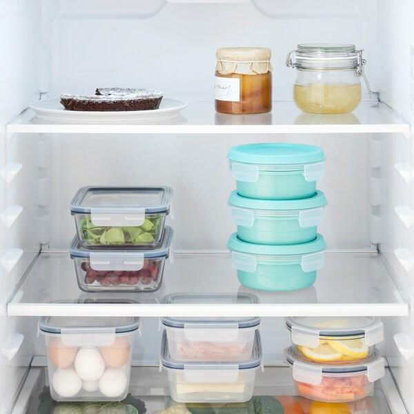 IKEA 365+ صندوق غداء مع حجيرة للطعام الجاف, خبز تركواز, 450 مل