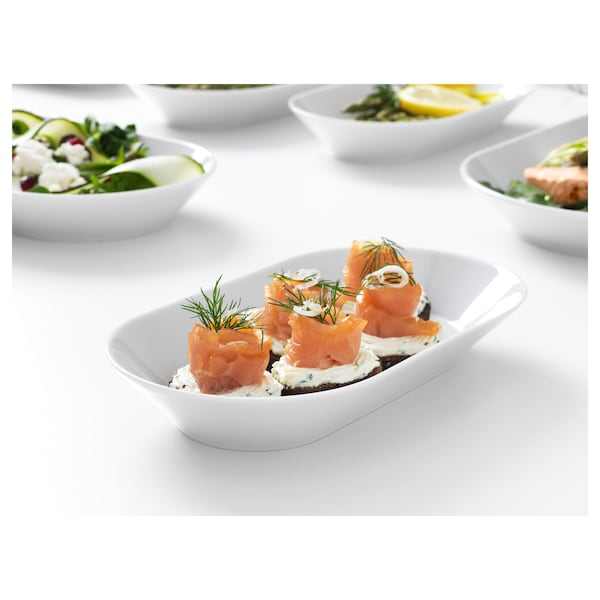 IKEA 365+ Serving plate, white, 24x13 cm