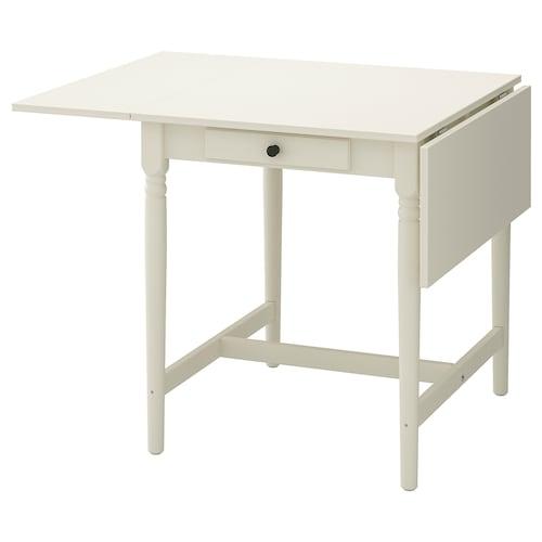 INGATORP drop-leaf table white 65 cm 123 cm 78 cm 75 cm