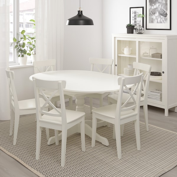 INGATORP extendable table white 155 cm 74 cm 110 cm