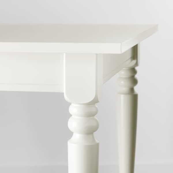 INGATORP طاولة قابلة للتمديد, أبيض, 155/215x87 سم