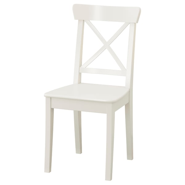 INGATORP / INGOLF طاولة و4 كراسي, أبيض, 155 سم