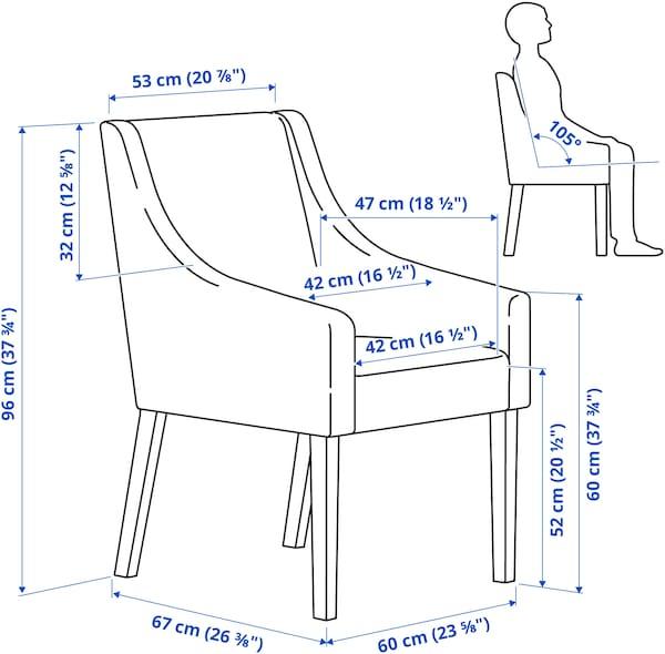 INGATORP / SAKARIAS Table and 4 chairs, black/Sporda dark grey, 110/155 cm
