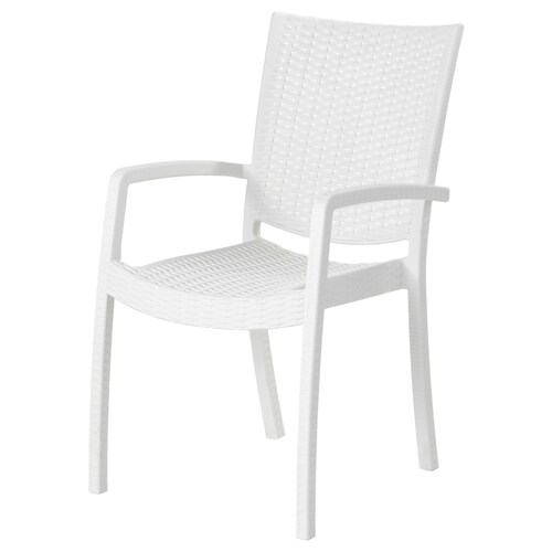 INNAMO chair with armrests, outdoor white 110 kg 54 cm 68 cm 93 cm 37 cm 45 cm 45 cm
