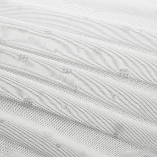 IRMALI ستائر رقيقة، 1 زوج, أبيض نقاط, 145x300 سم
