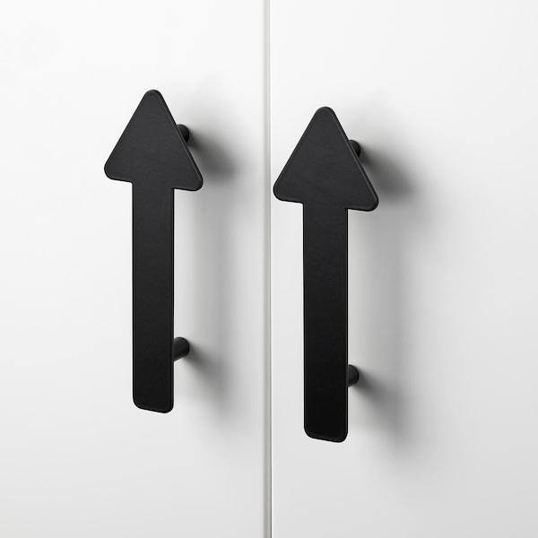 JÄRNSPARV Handle, black/arrow, 141 mm