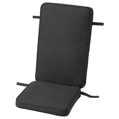 JÄRPÖN/DUVHOLMEN وسادة مقعد/ظهر، خارجية, فحمي, 116x45 سم
