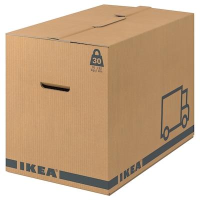 JÄTTENE صندوق للتعبئة, بني, 56x33x41 سم