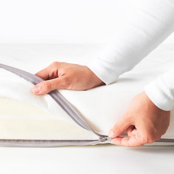 JÄTTETRÖTT Pocket sprung mattress for cot, white, 60x120x11 cm