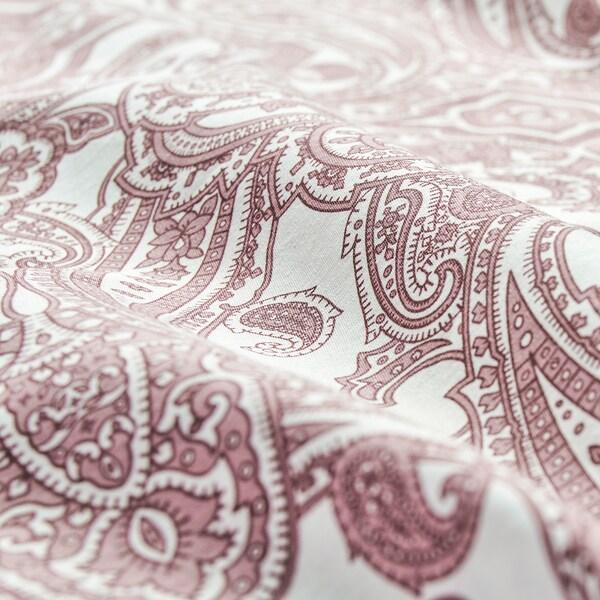 JÄTTEVALLMO pillowcase white/dark pink 152 /inch² 1 pack 50 cm 80 cm