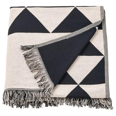 JOHANNE غطاء, أسود/طبيعي, 130x170 سم