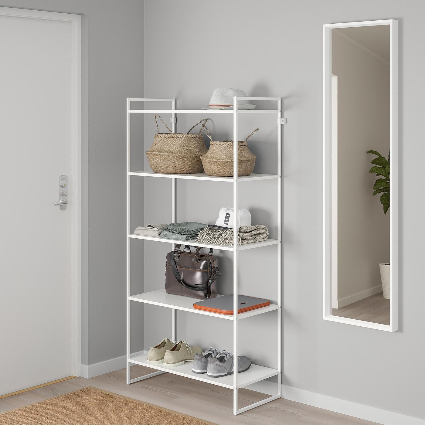JONAXEL Shelving unit - white 4x4x4 cm
