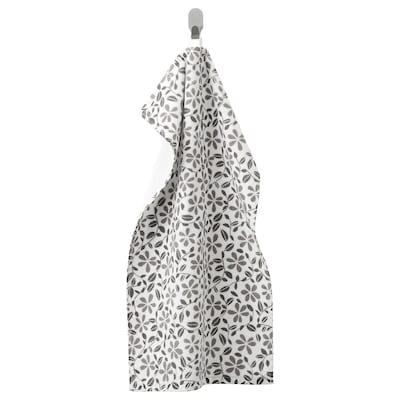 JUVELBLOMMA Hand towel, white/grey, 40x70 cm