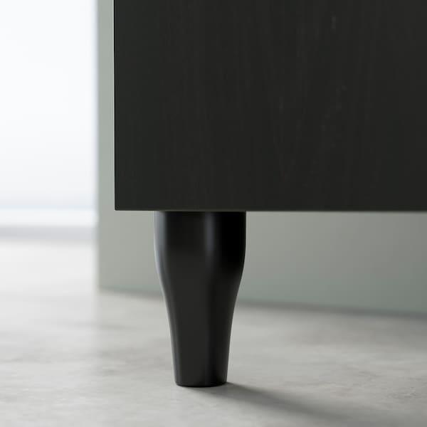 KABBARP Leg, black, 10 cm
