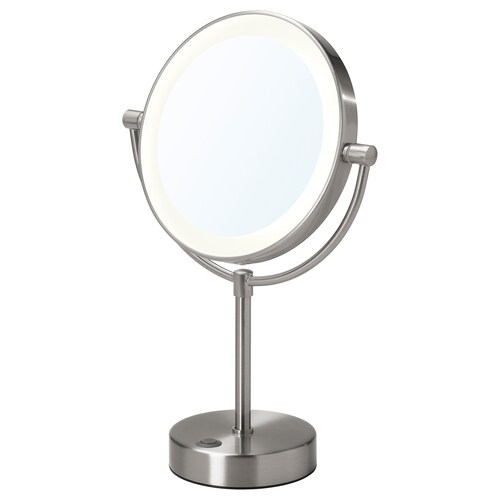 KAITUM mirror with integrated lighting battery-operated 37 cm 20 cm