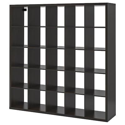 KALLAX وحدة أرفف, أسود-بني, 182x182 سم