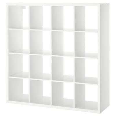 KALLAX وحدة أرفف, لامع أبيض, 147x147 سم